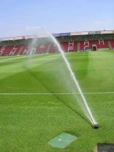 Football pitch sprinkler